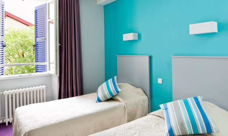chambre twin hotel le saphir biarritz
